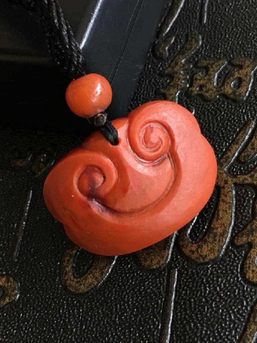 NATURAL RUYI SHAPED SOUTHERN RED AGATE PENDANT