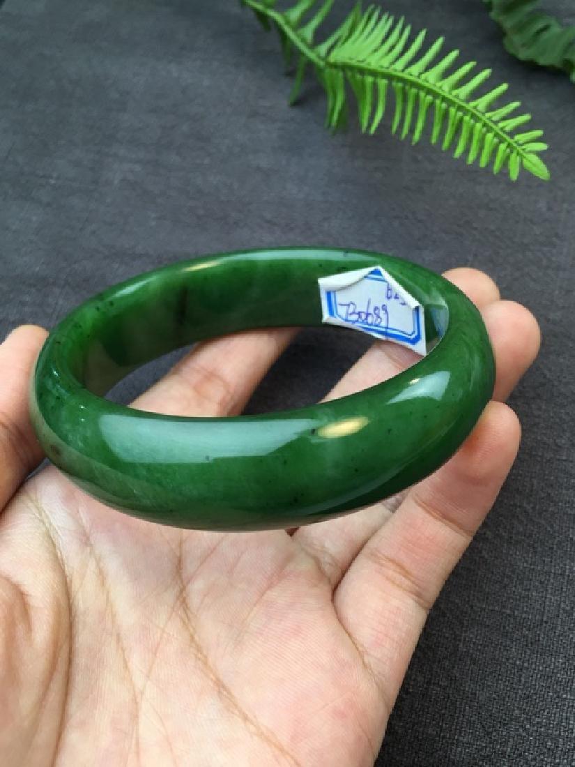 NATURAL HETIAN GREEN JADE BRACELET