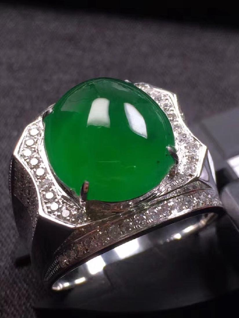EGG-SHAPED Natural  JADEITE RING