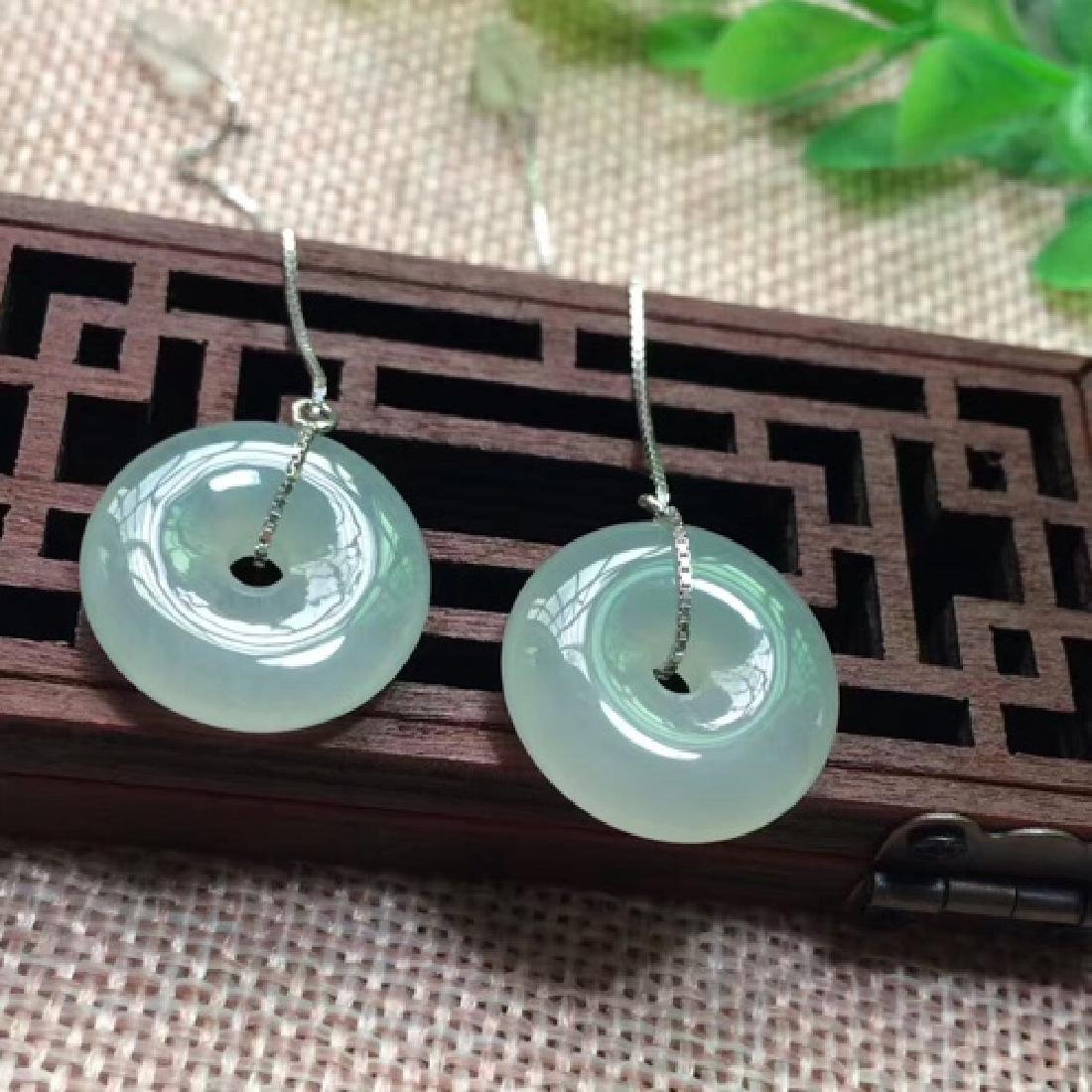 NATURAL RING-SHAPED JADEITE EARRING