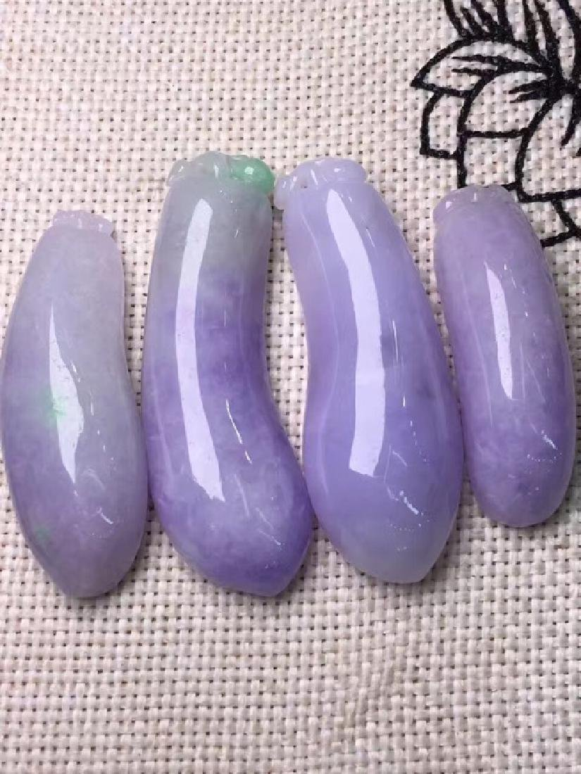 A NATURAL ICY VIOLET JADEITE PENDANT