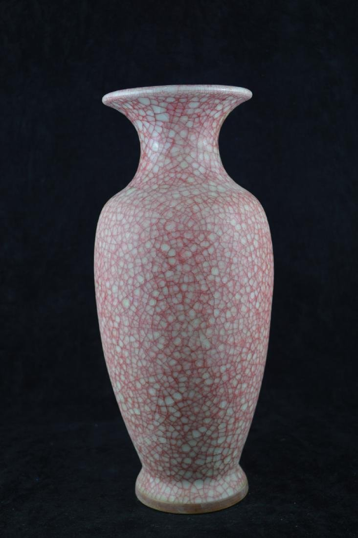 A GE-GLAZED BOTTLE VASE WITH MARK - 2