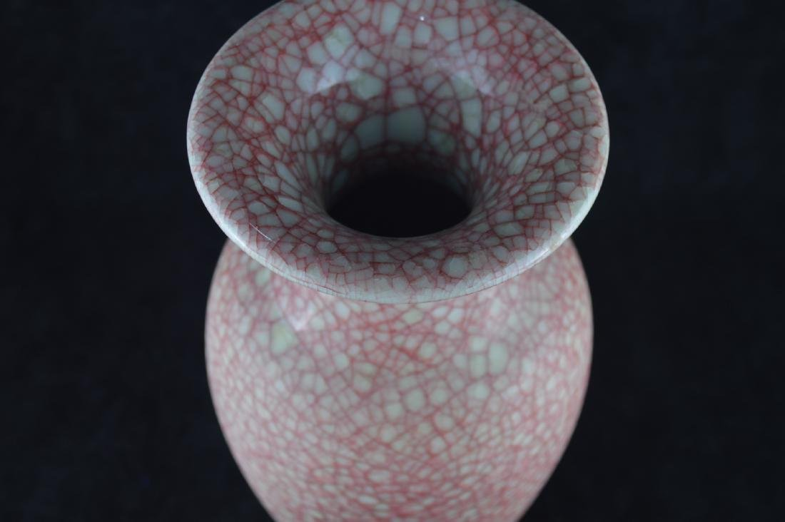 A GE-GLAZED BOTTLE VASE WITH MARK - 6