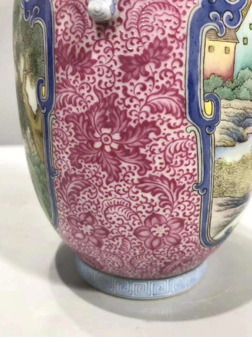 A WESTERN CHARACTER PATTERN FOREIGN COLOUR VASE - 6