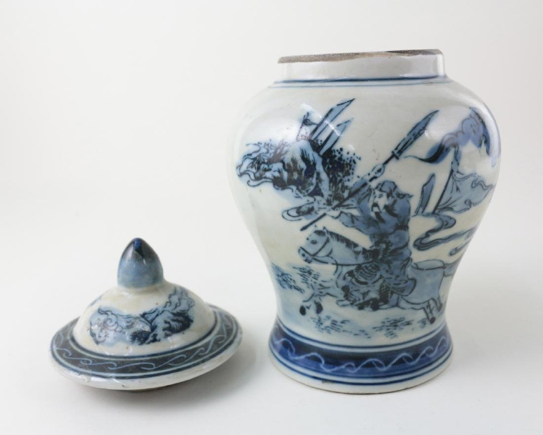 DAQING QIANLONG NIANZHI MARK BLUE&WHITE JAR - 2