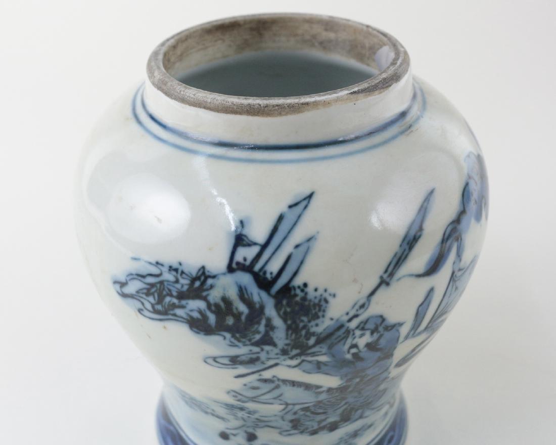 DAQING QIANLONG NIANZHI MARK BLUE&WHITE JAR - 3