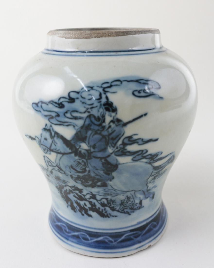 DAQING QIANLONG NIANZHI MARK BLUE&WHITE JAR - 5
