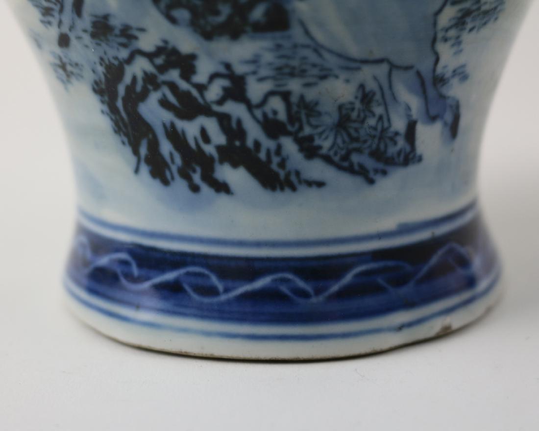 DAQING QIANLONG NIANZHI MARK BLUE&WHITE JAR - 7