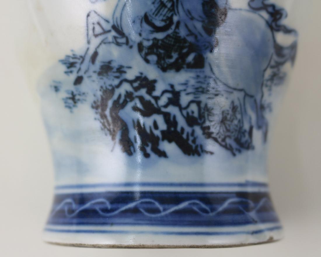 DAQING QIANLONG NIANZHI MARK BLUE&WHITE JAR - 8