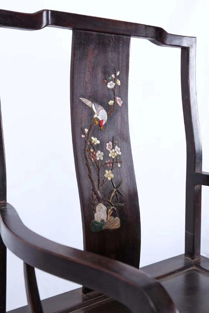 SET OF ZITAN WOOD CHAIRS AND TABLE - 3