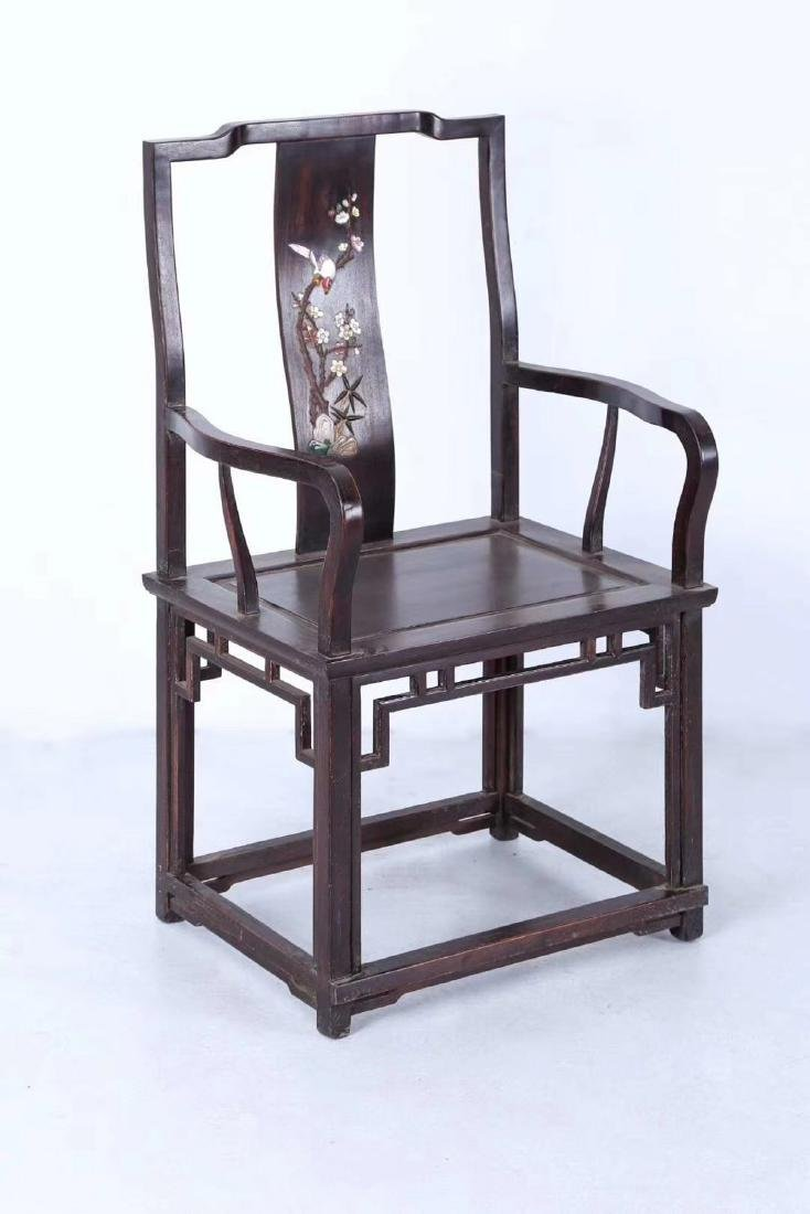 SET OF ZITAN WOOD CHAIRS AND TABLE - 4
