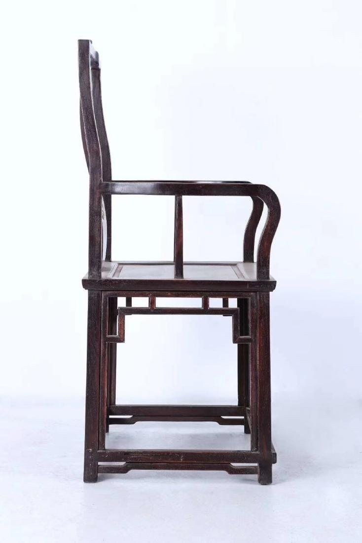 SET OF ZITAN WOOD CHAIRS AND TABLE - 5