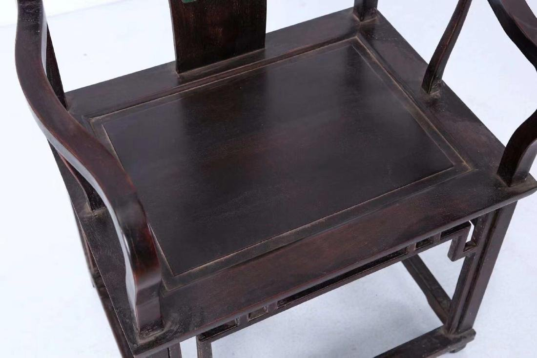 SET OF ZITAN WOOD CHAIRS AND TABLE - 6