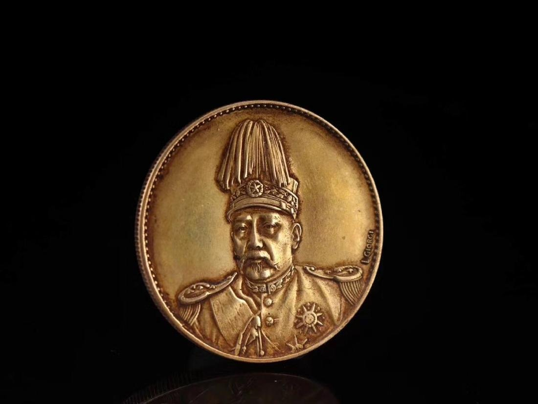 20TH CENTURY, A PURE GOLD COIN, EMPIRE OF CHINA