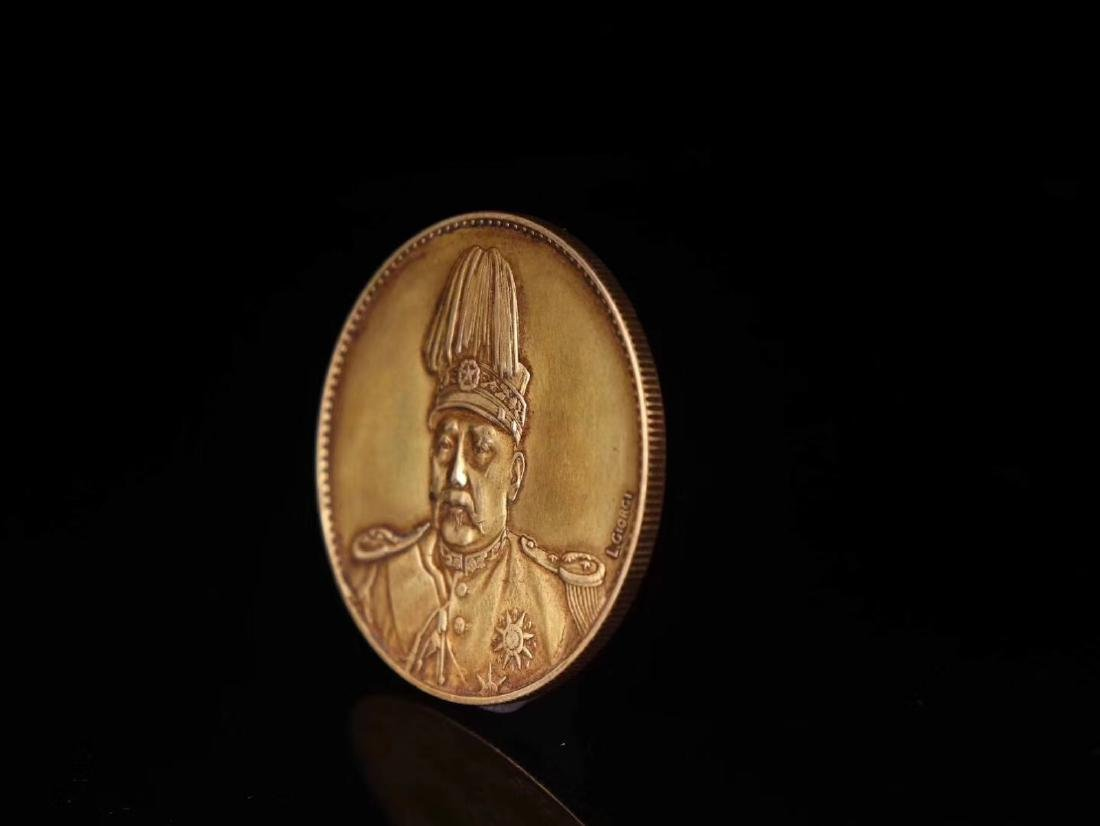 20TH CENTURY, A PURE GOLD COIN, EMPIRE OF CHINA - 2