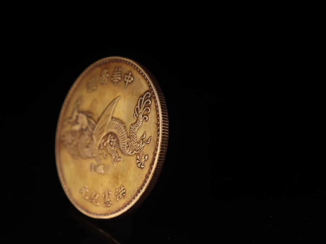 20TH CENTURY, A PURE GOLD COIN, EMPIRE OF CHINA - 6