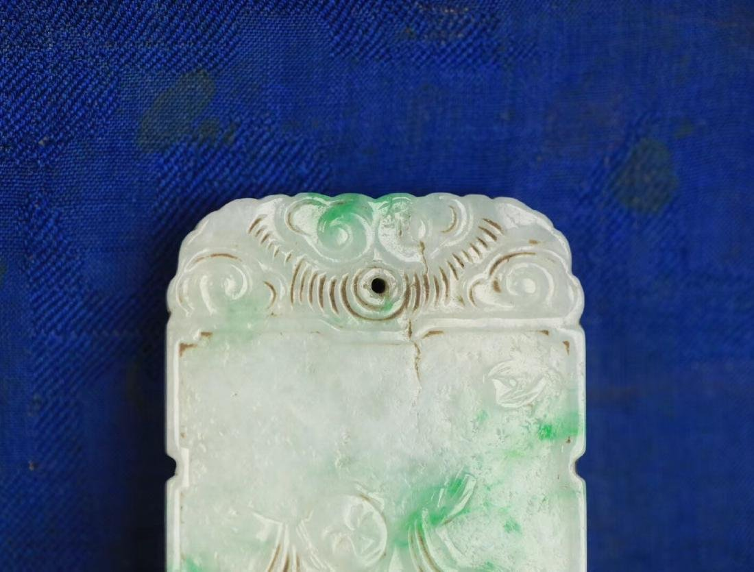 A JADEITE CARVED CHARACTER STORY PATTERN PENDANT - 5
