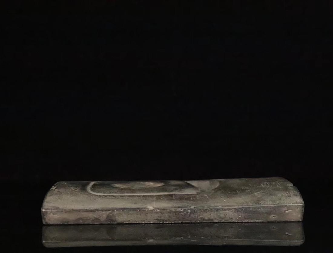 AN OLD CLAY MUD INK SLAB - 3