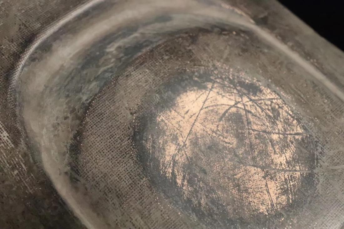 AN OLD CLAY MUD INK SLAB - 7