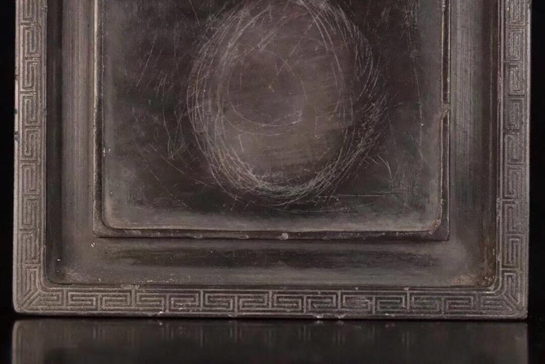 A OLD STONE INKSTICK DRGON PATTERN SQUARE - 8