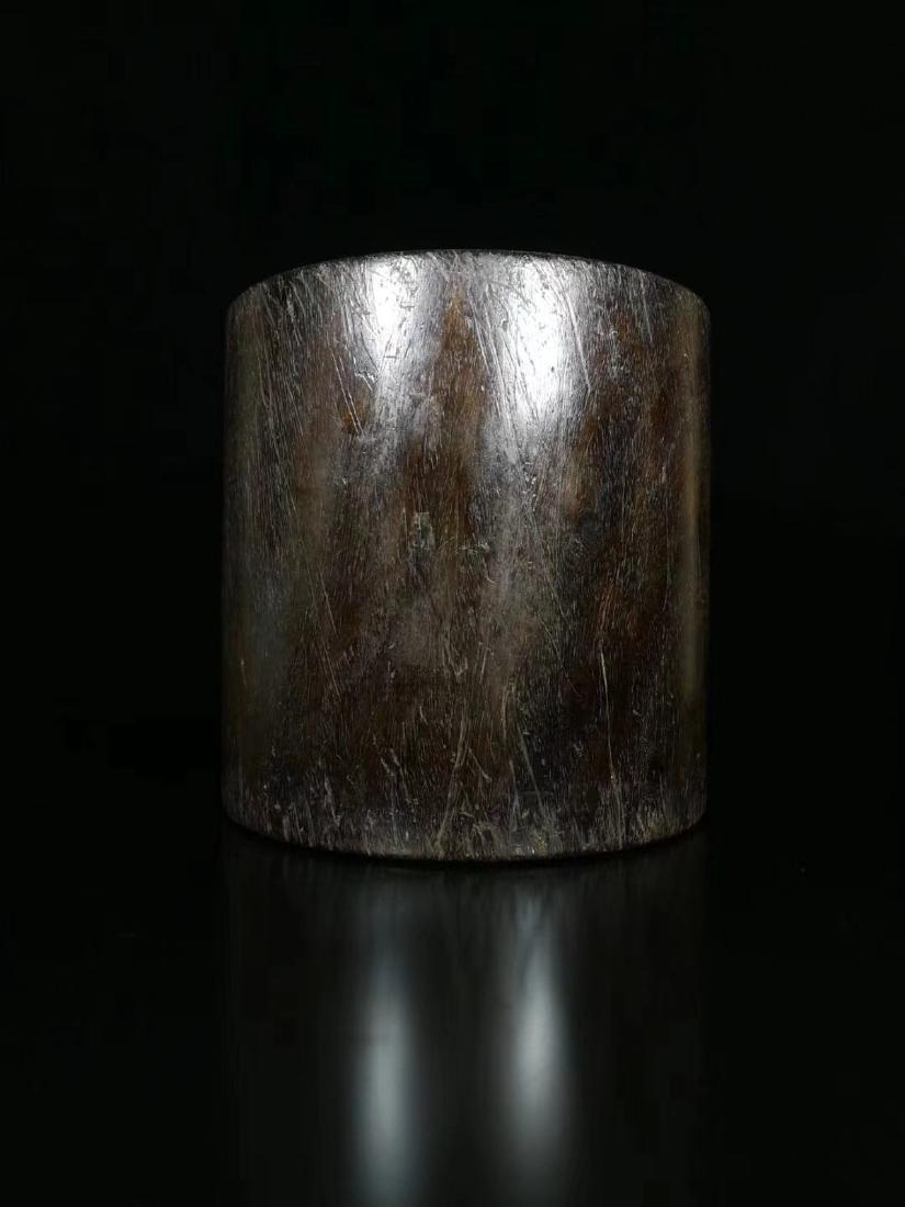 A ROSEWOOD PEN HOLDER - 3