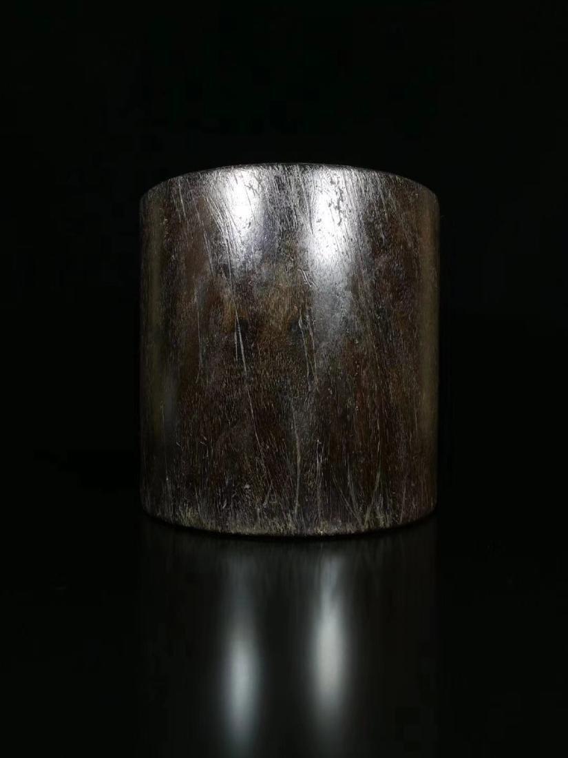 A ROSEWOOD PEN HOLDER - 4