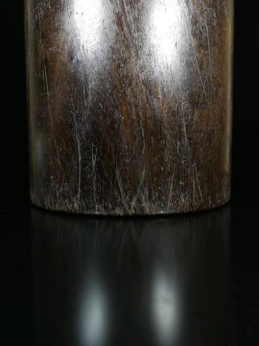 A ROSEWOOD PEN HOLDER - 6