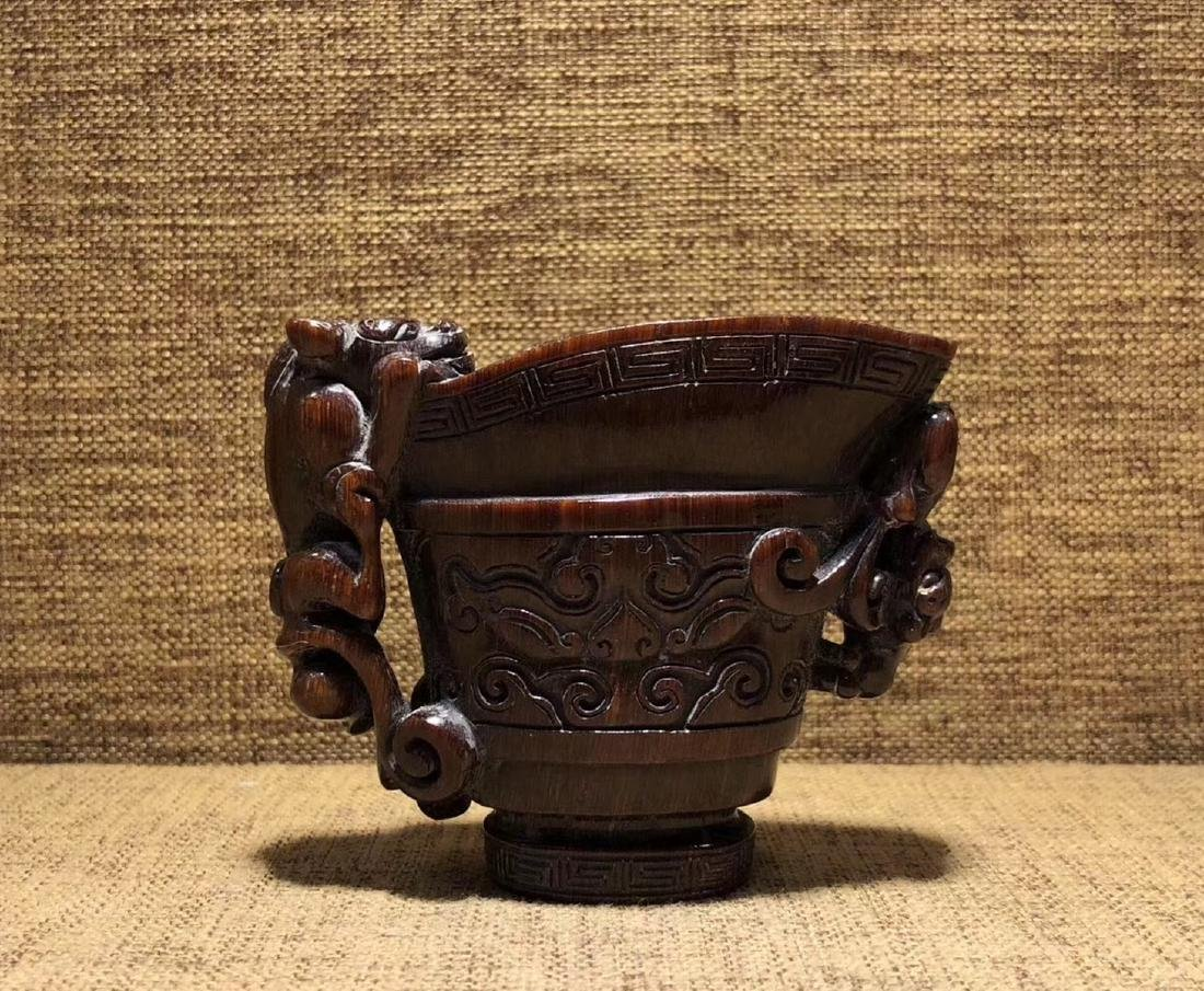 A CHI-TIGER SHAPED JUE CUP