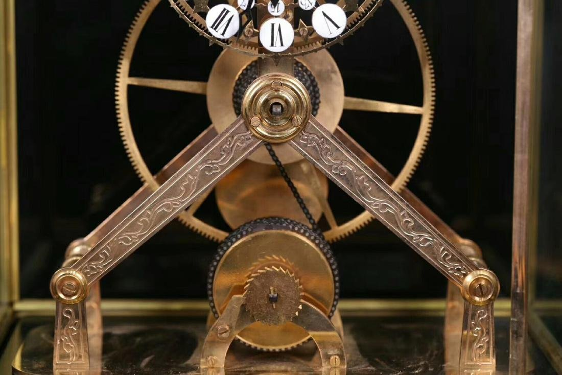 AN OLD EUROPEAN STLYE COPPER MOLDED CLOCK - 4
