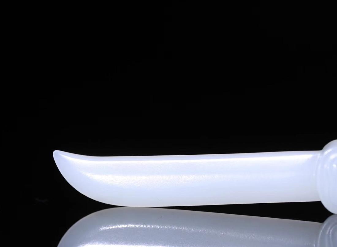 A HETIAN JADA CARVED PAPER KNIFE - 9