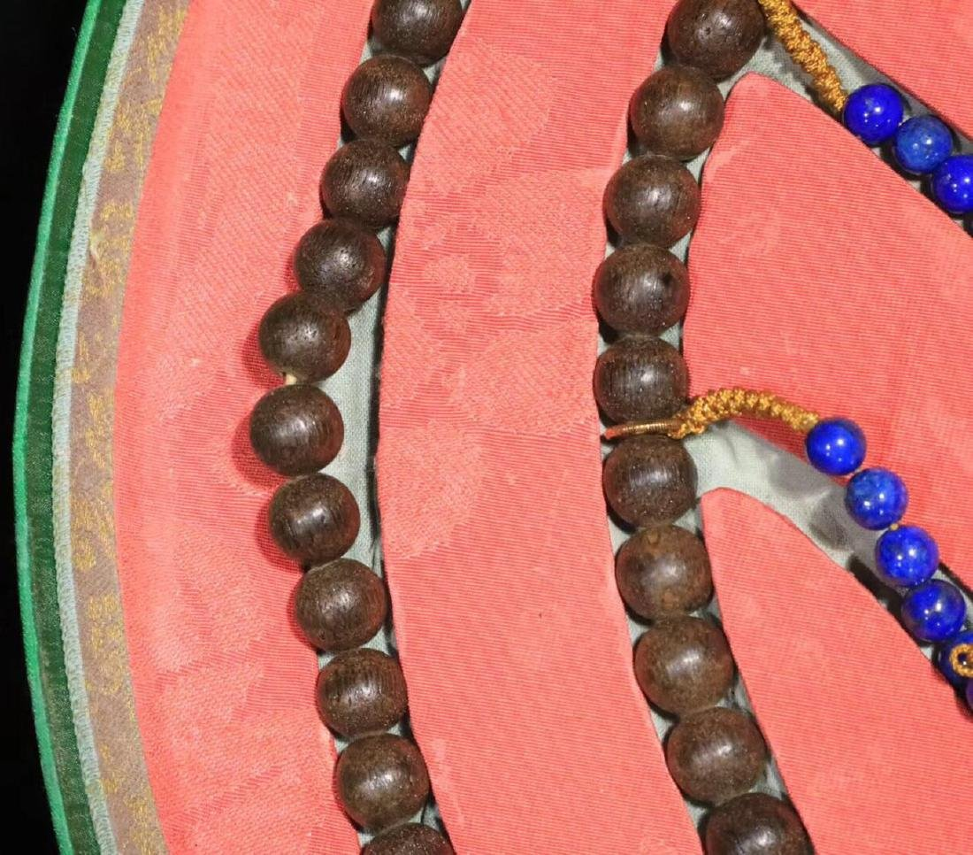 A CHENXIANG WOOD BEADS STRING BRACELET - 3