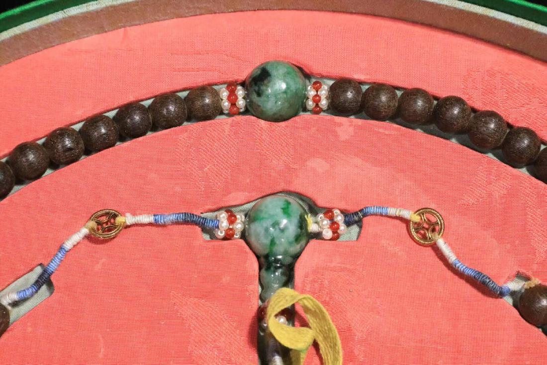 A CHENXIANG WOOD BEADS STRING BRACELET - 4