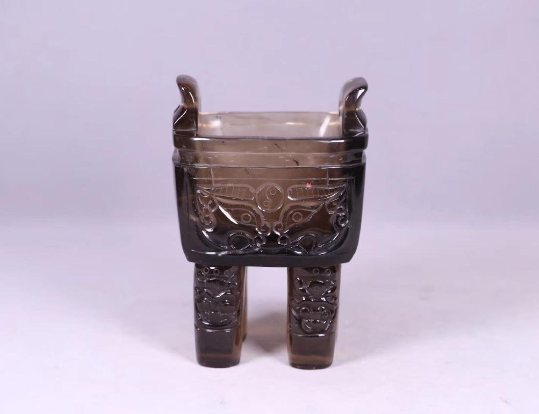 A CRYSTAL DING STYLE BEAST SHAPED CENSER