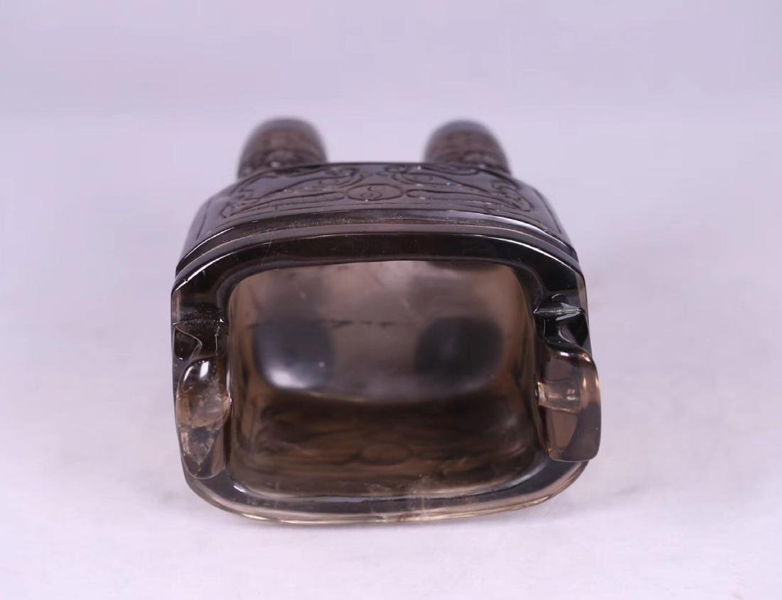 A CRYSTAL DING STYLE BEAST SHAPED CENSER - 4