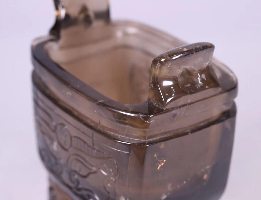 A CRYSTAL DING STYLE BEAST SHAPED CENSER - 8