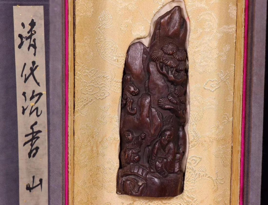 A CHENXIANG WOOD CARVED PENDANT - 2