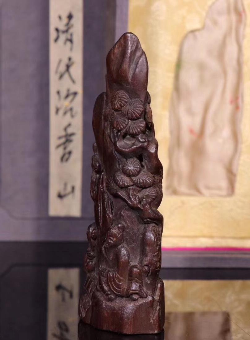 A CHENXIANG WOOD CARVED PENDANT - 4