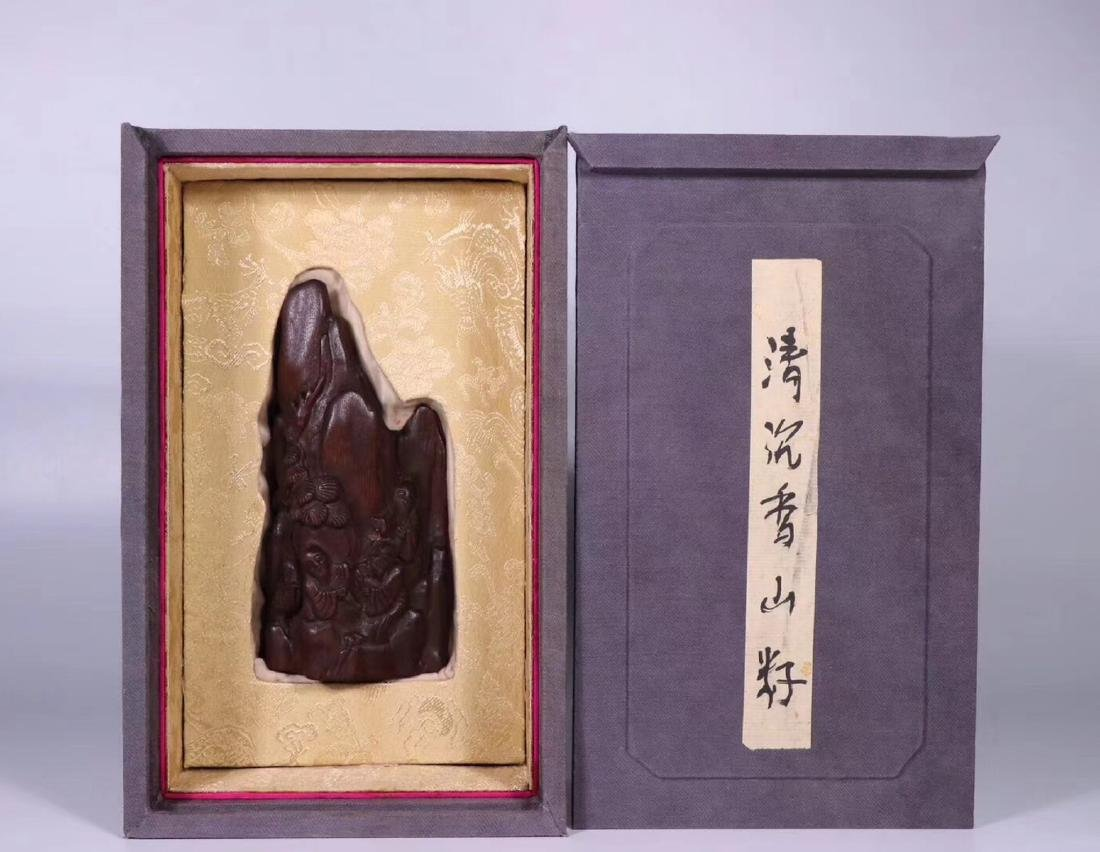 A CHENXIANG WOOD CARVED PENDANT
