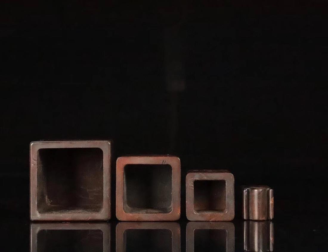 A HUANGYANG WOOD SQUARE SHAPED SEAL - 8