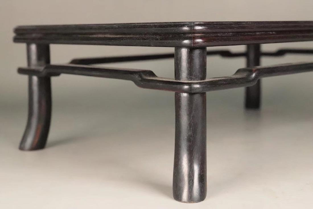 AN OLD ZITAN WOOD CARVED TABLE - 8