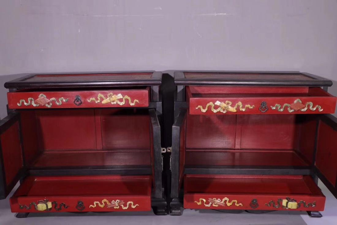PAIR ZITAN AND LACQUER DECORATED CONTAINERS - 5
