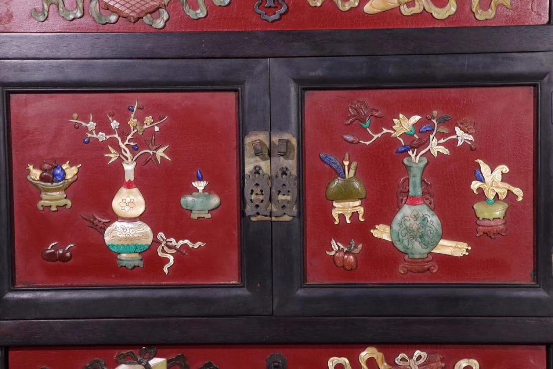 PAIR ZITAN AND LACQUER DECORATED CONTAINERS - 6