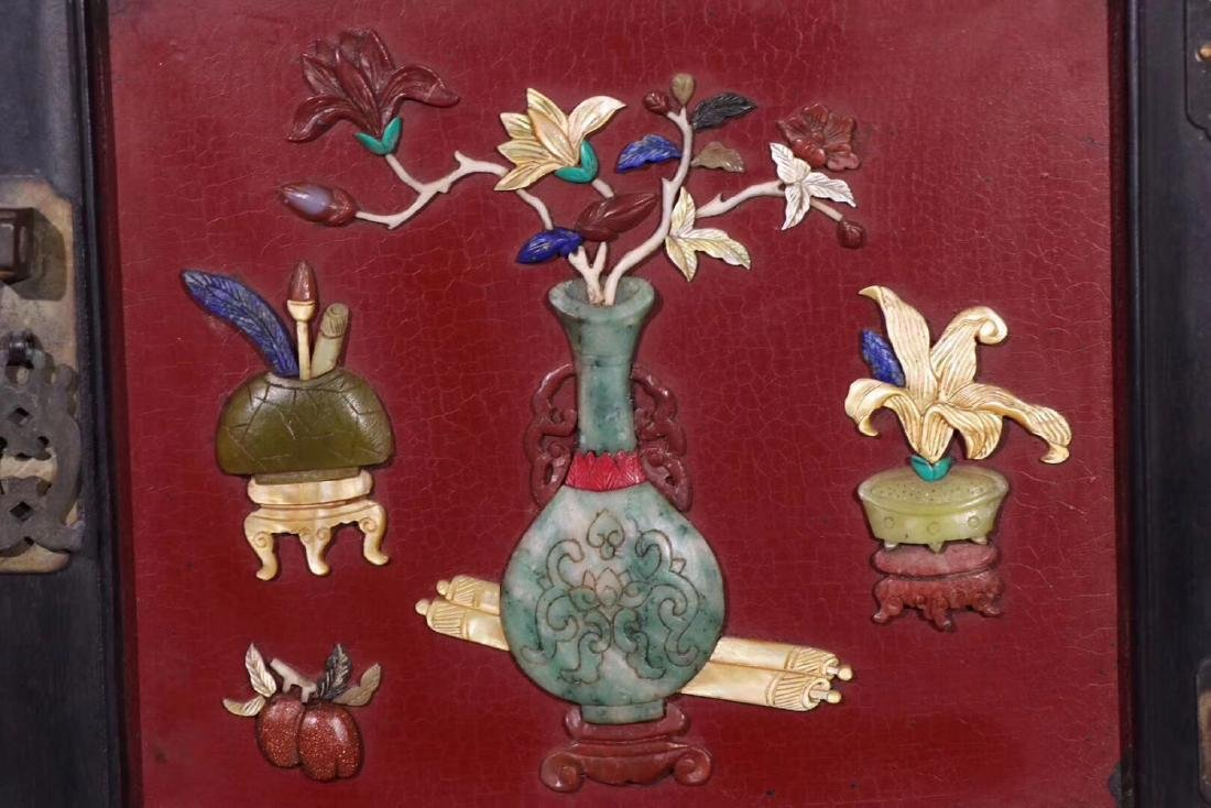 PAIR ZITAN AND LACQUER DECORATED CONTAINERS - 8