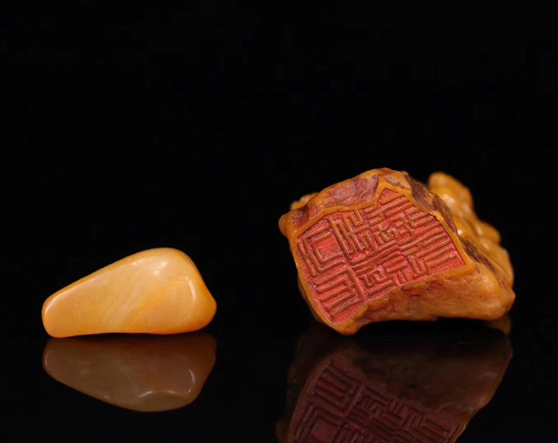 SET TIANHUANG STONE CARVED BUDDHA SHAPED SEALS - 5