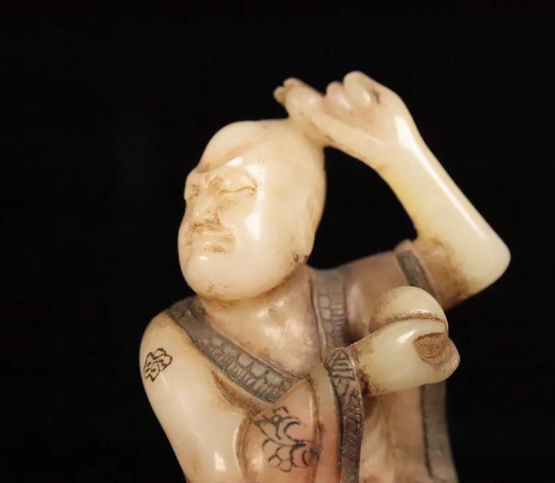 PAIR SHOUSHAN STONE XIANGLONGFUHU BUDDHA ORNAMENT - 4