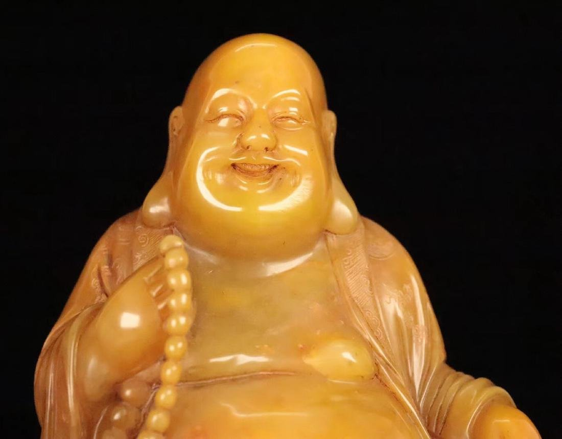 A TIANHUANG STONE BUDDHA PENDANT - 5
