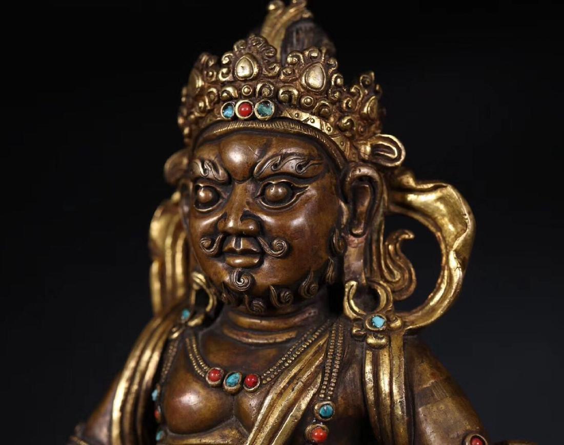 A GILT COPPER WEALTH BUDDHA - 4