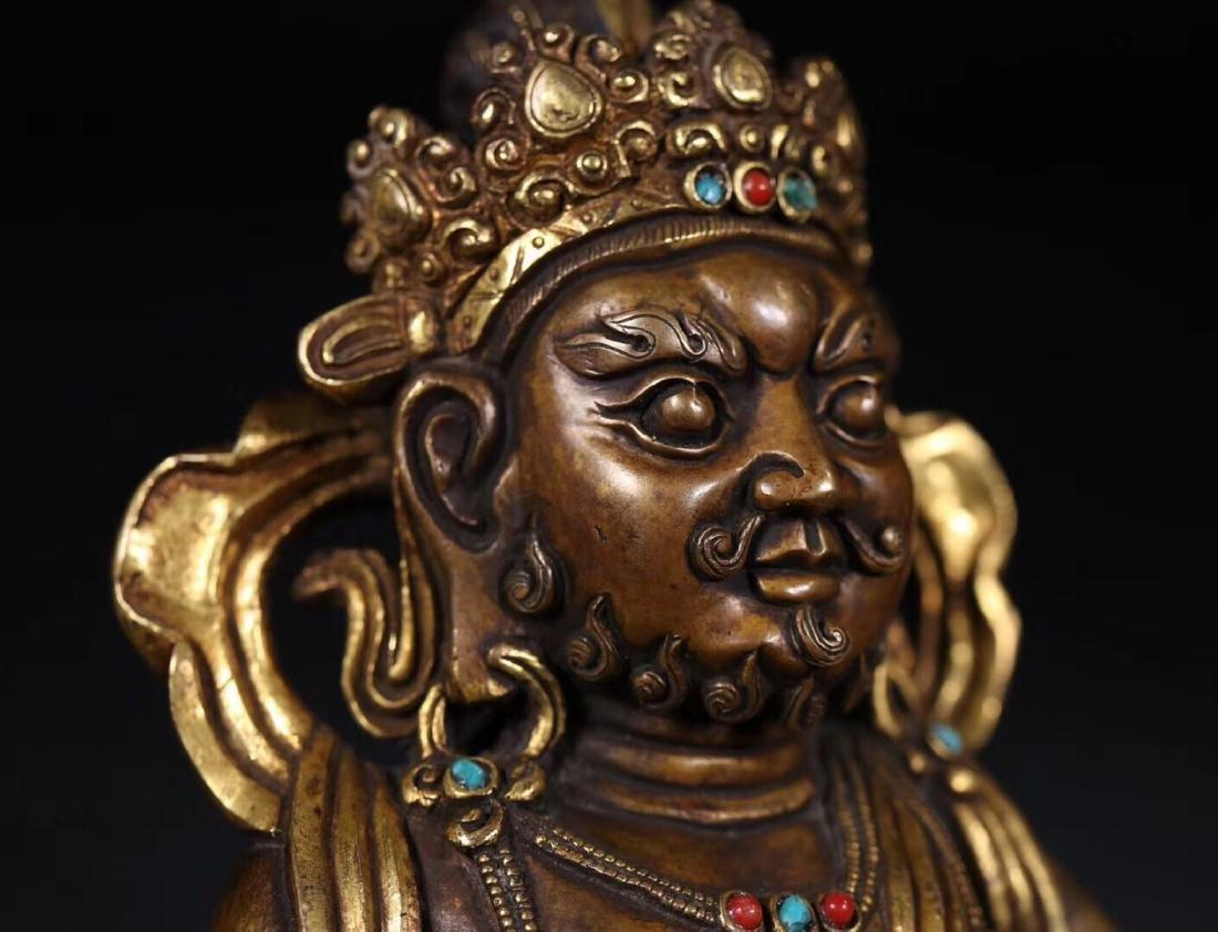 A GILT COPPER WEALTH BUDDHA - 6