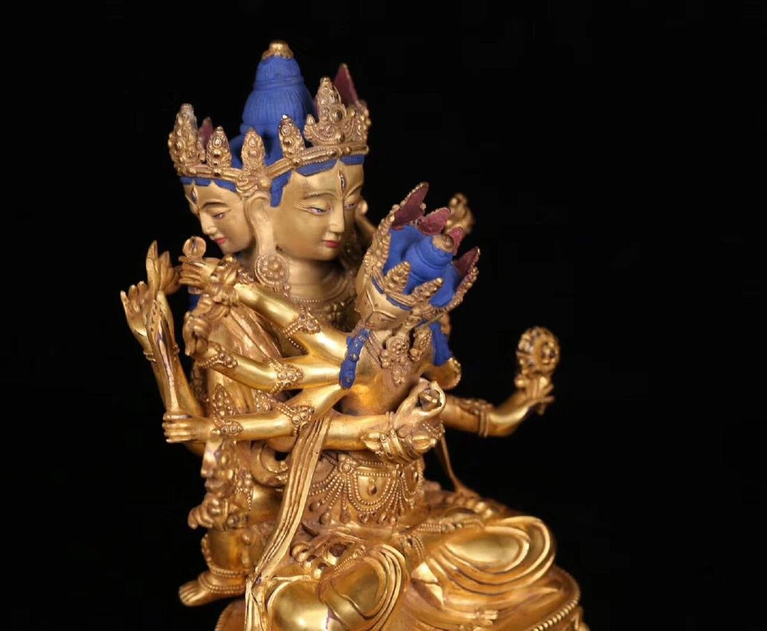 A GILT BRONZE HUANXI BUDDHA WITH MARK - 2