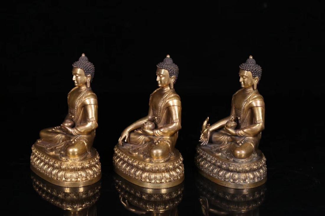 SET GILT COPPER BUDDHAN ORNAMENT - 2